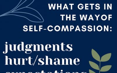 What gets in the way of Self-Compassion